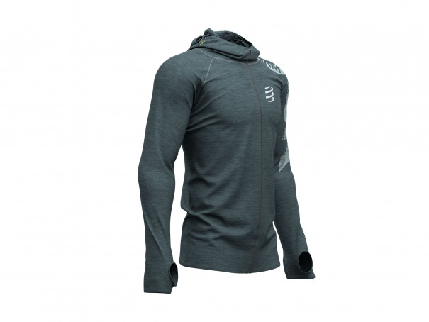 3D Thermo Seamless Hoodie - Born To SwimBikeRun 2019 GREY