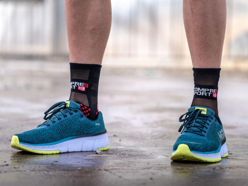 Calcetines deportivos pro v3.0 Run Ultralight Run High negro/rojo