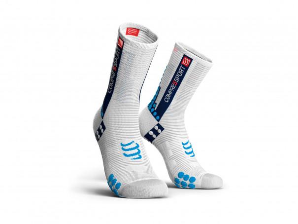 Pro racing socks v3.0 Bike weiß/blau