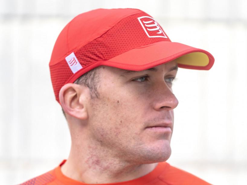 Gorra deportiva ultraligera pro roja