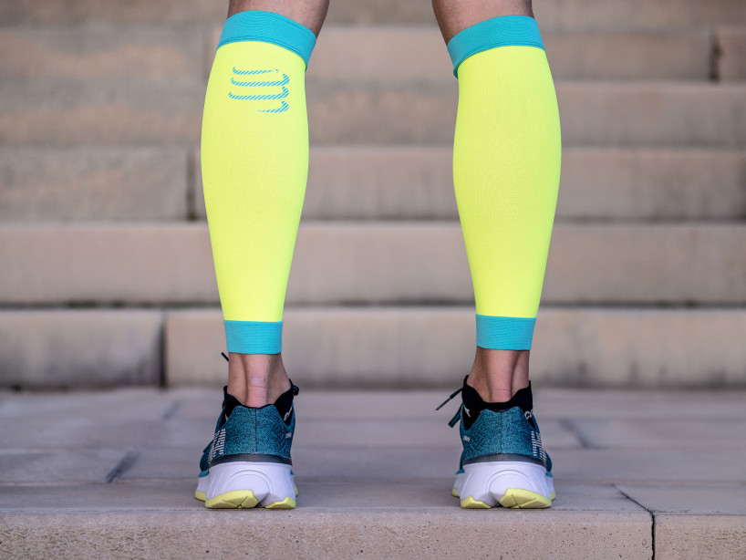R2V2 calf sleeves fluo yellow
