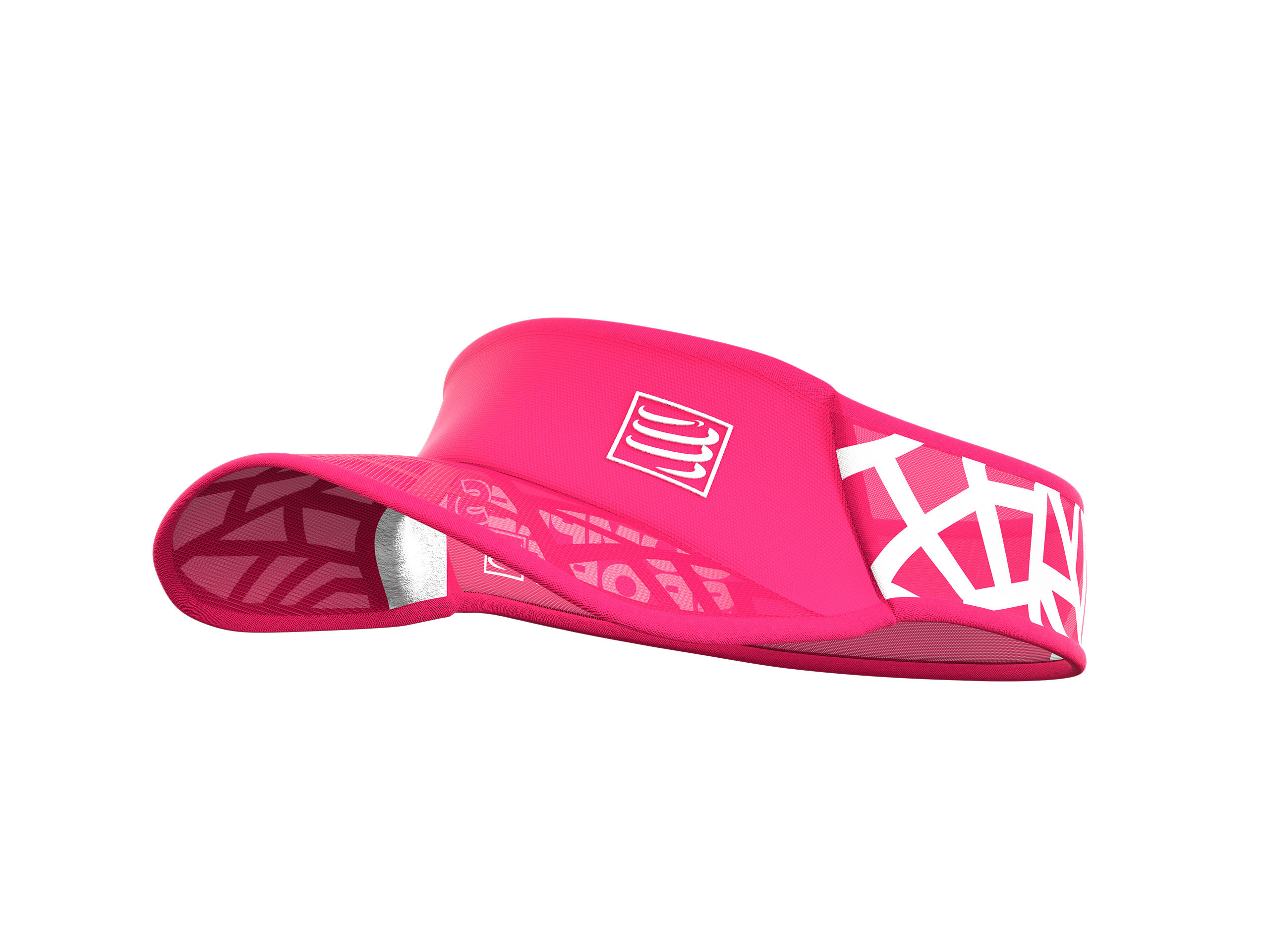 4314515bbdb8bc Pink visor l Spiderweb Ultralight Visor by Compressport
