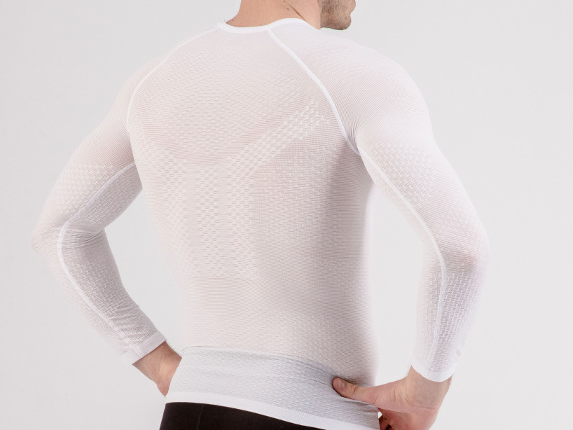 3D Thermo UltraLight LS Shirt weiß