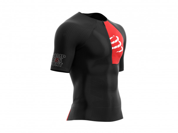 Camiseta Aero MC postural para triatlón negra