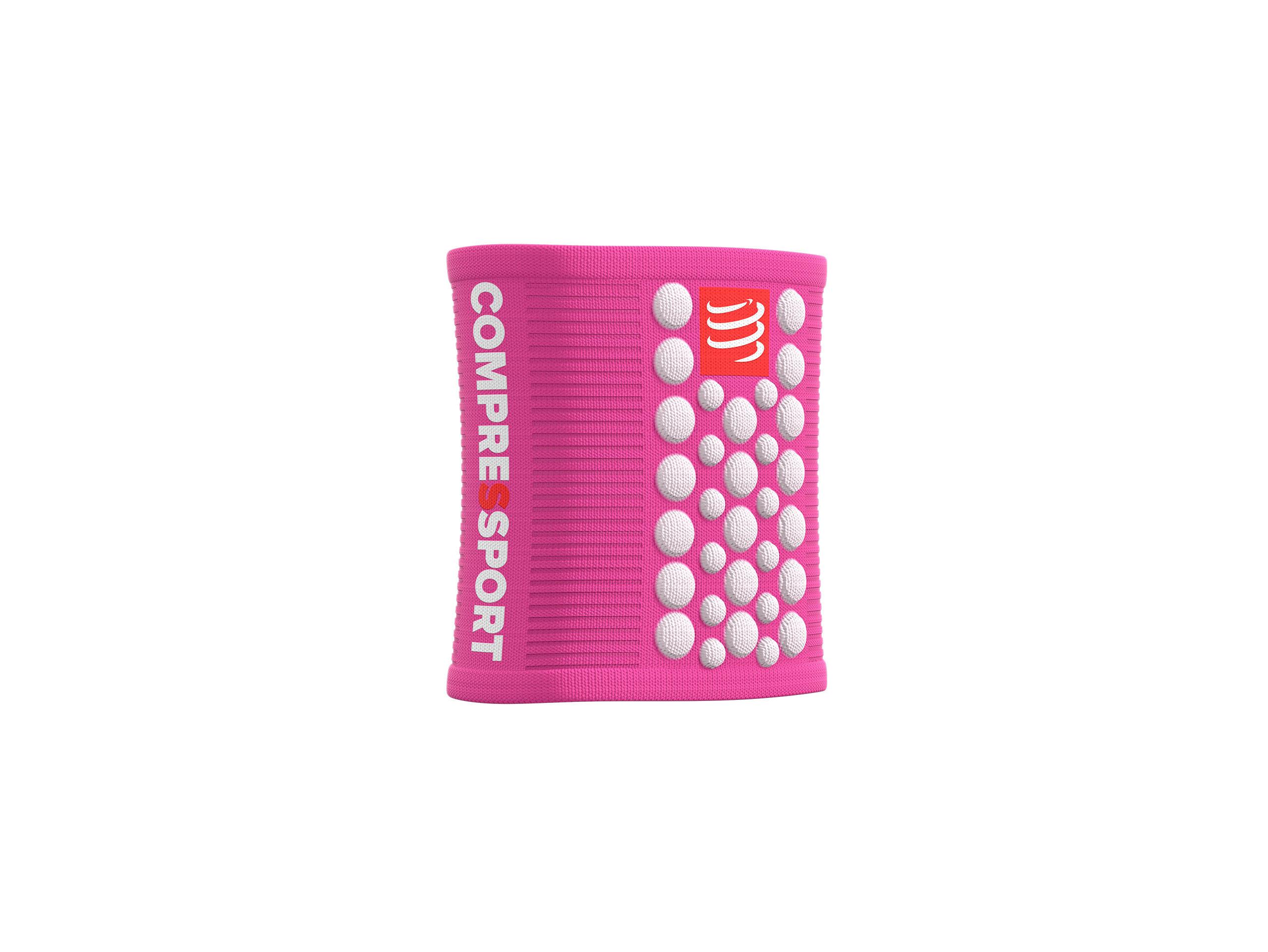 Sweatbands 3D.Dots pink/weiß