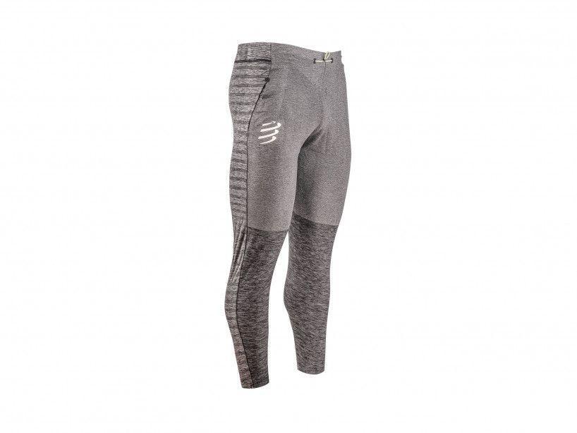 Pantaloni senza cuciture mélange grigio