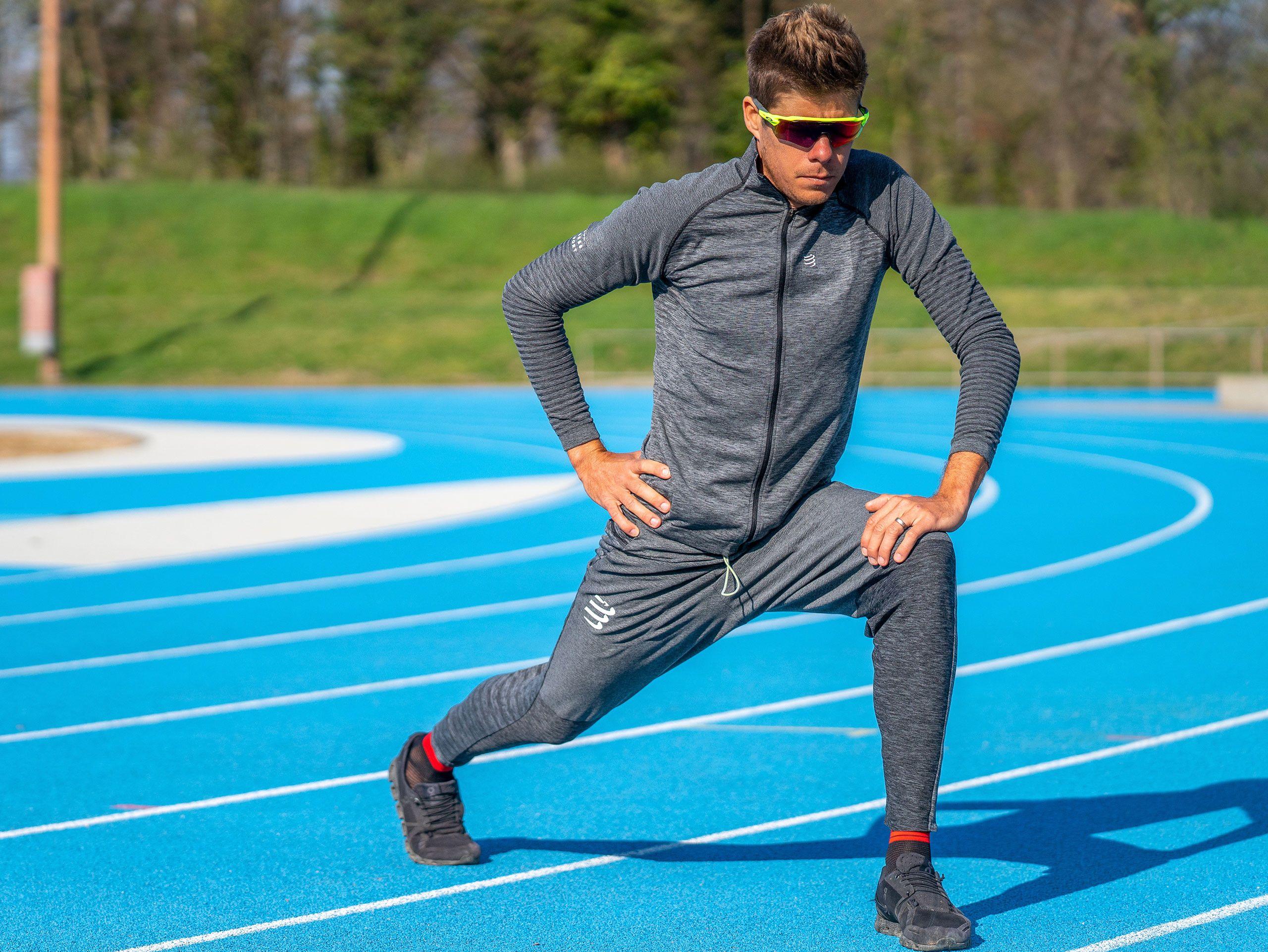 Pantalones deportivos gris jaspeado