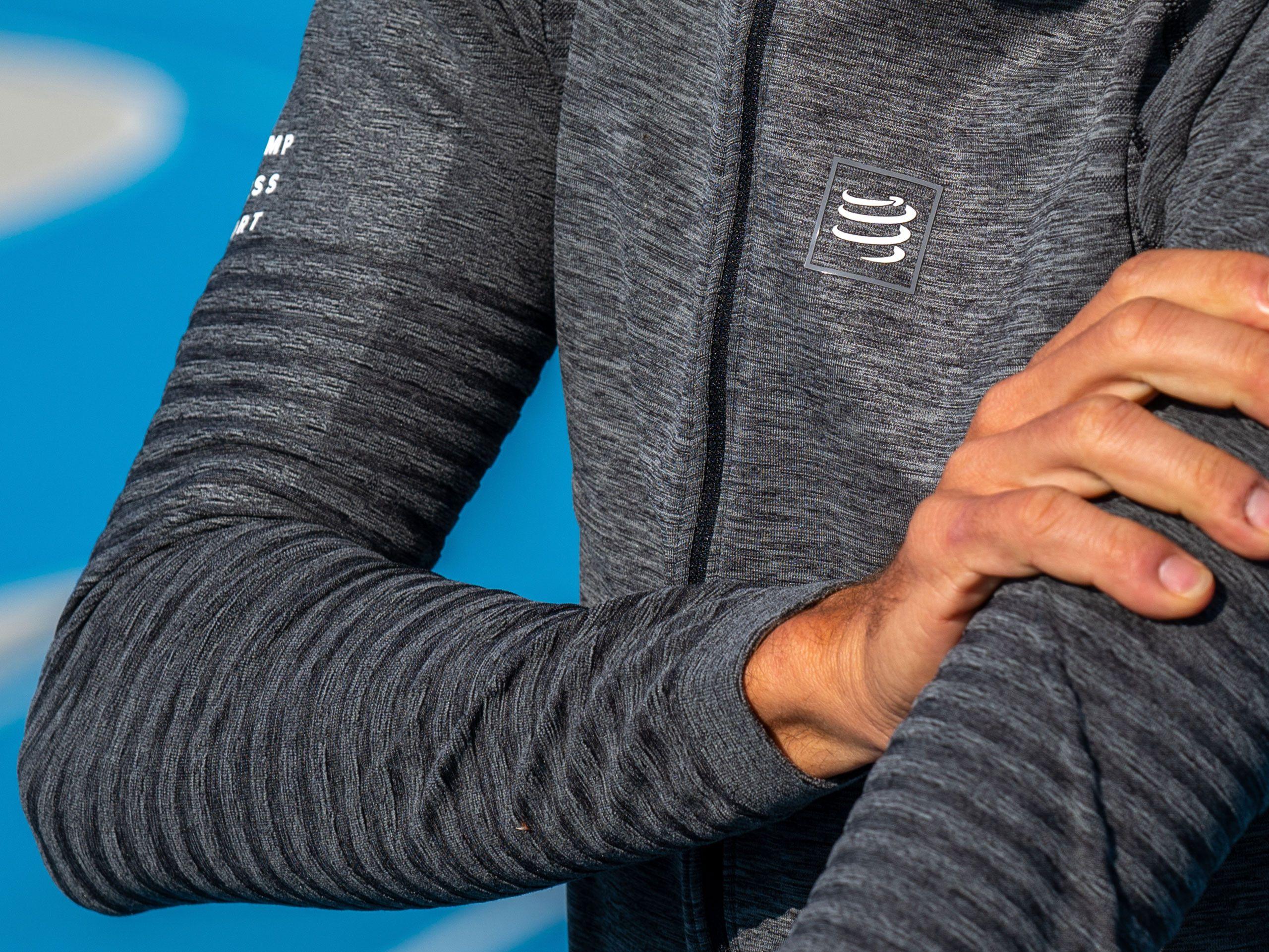 Seamless Zip Sweatshirt grey melange
