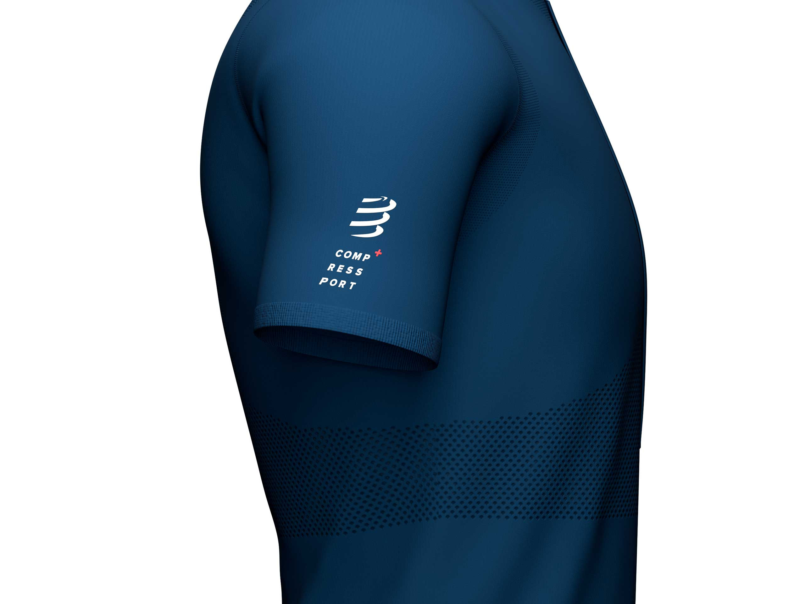 Trail Half-Zip Fitted SS Top bleu