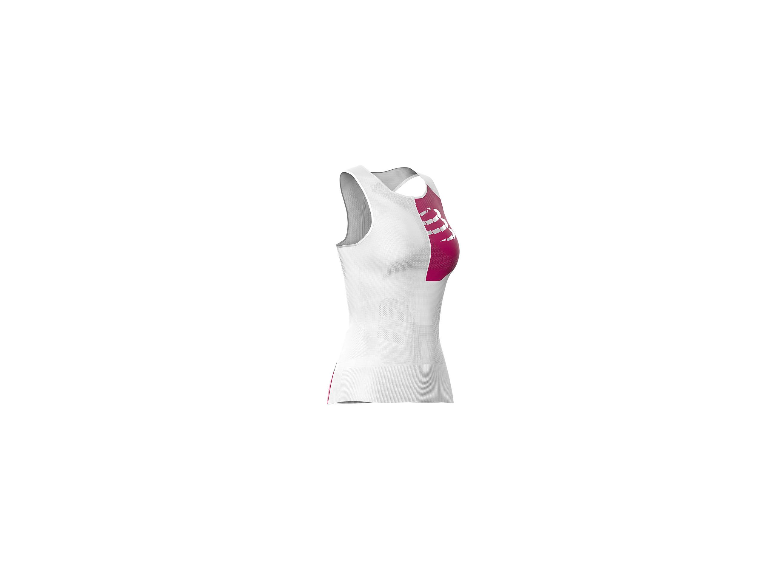 Canotta ultra-posturale da Triathlon W bianca