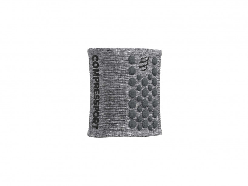 Sweatbands 3D.Dots grey melange