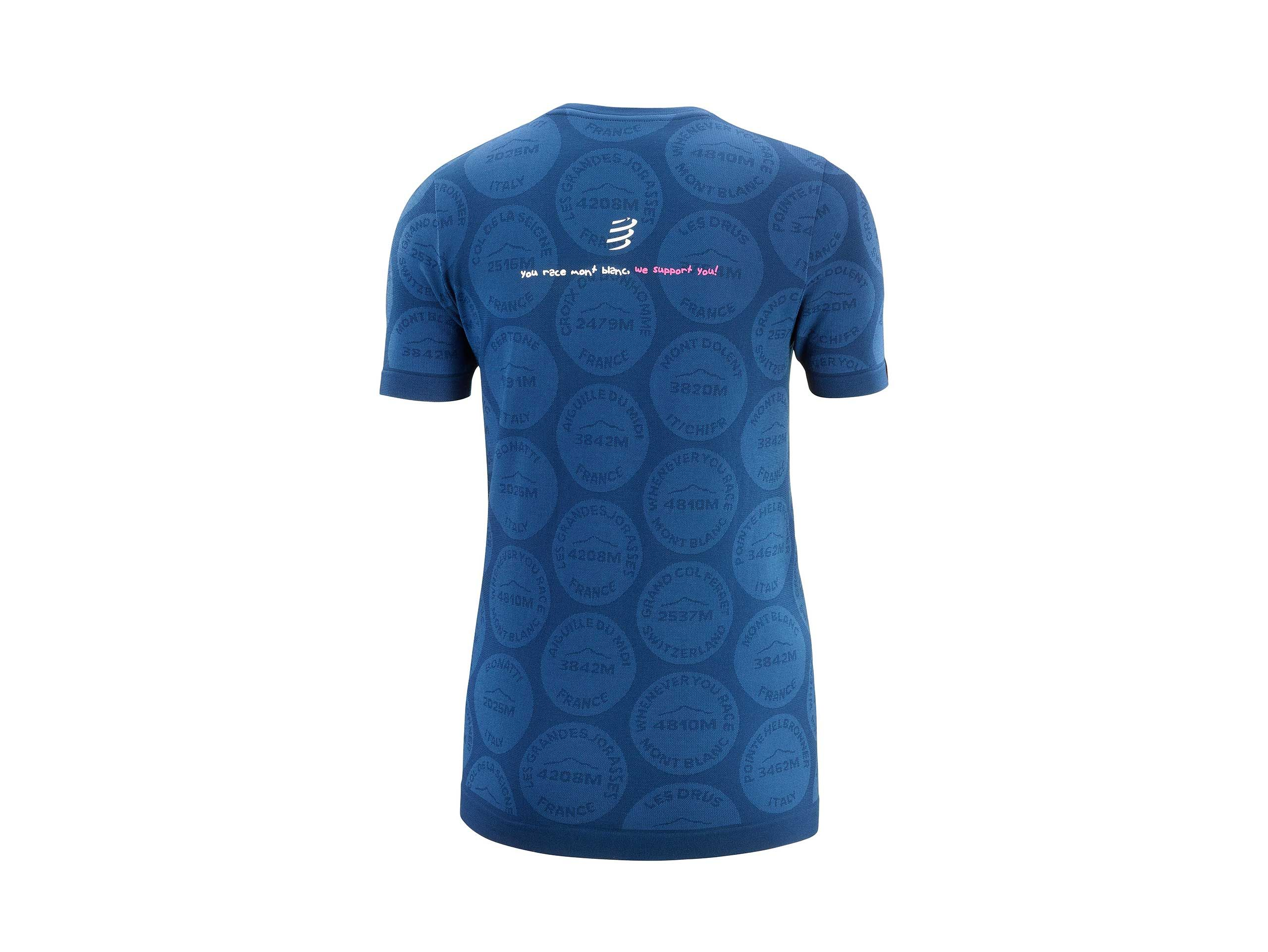 Training Tshirt SS W Badges - Mont Blanc 2020