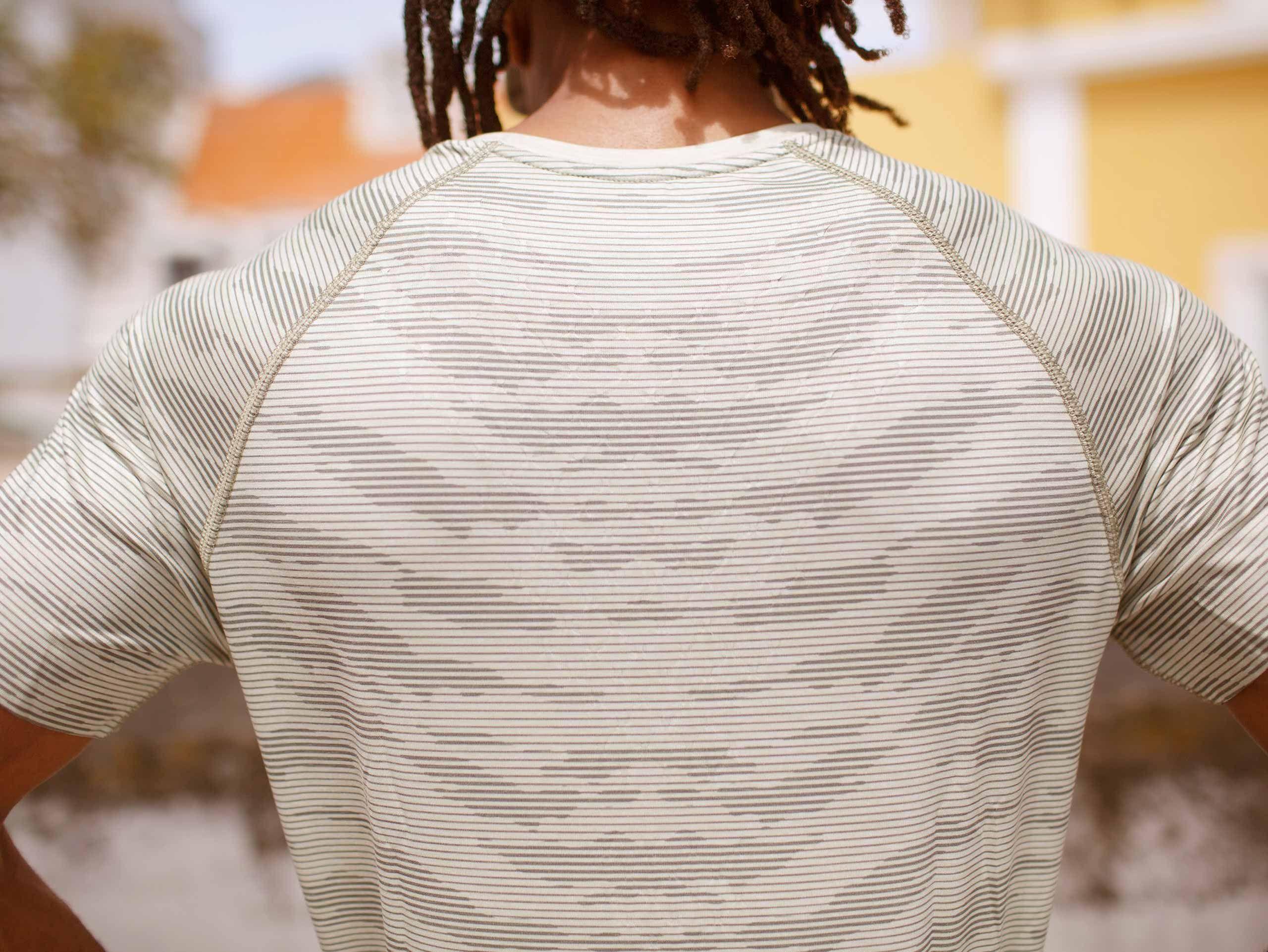 Training SS Tshirt Camo Stripe SLATE GREEN