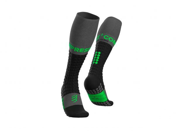 Ski Touring Full Socks - Black Green
