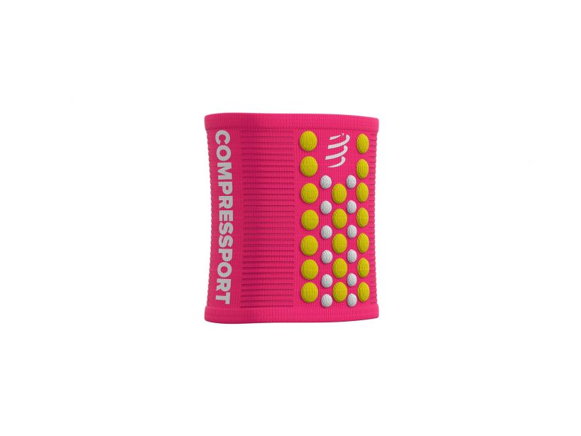 Sweatbands 3D.Dots PINK/YELLOW