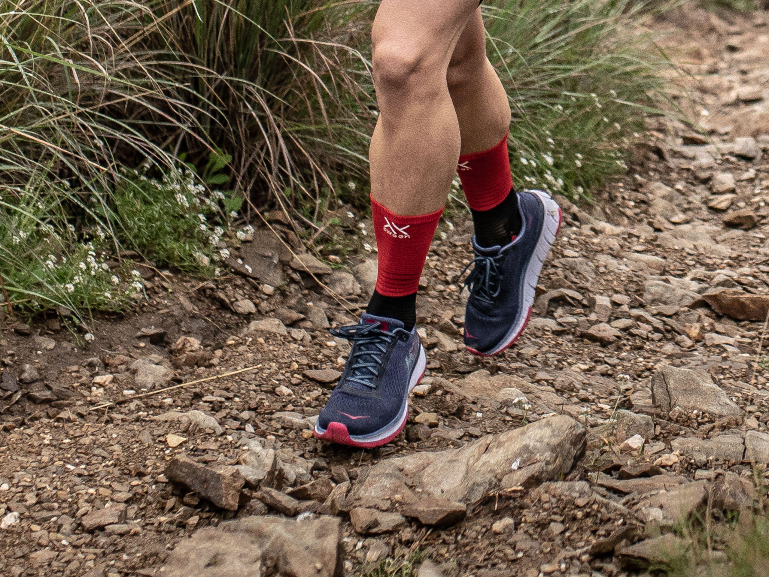 Mid Compression Socks black/red