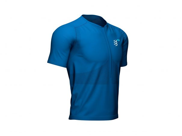 Trail Half-Zip Fitted SS Top - Mont Blanc 2021 BLUE