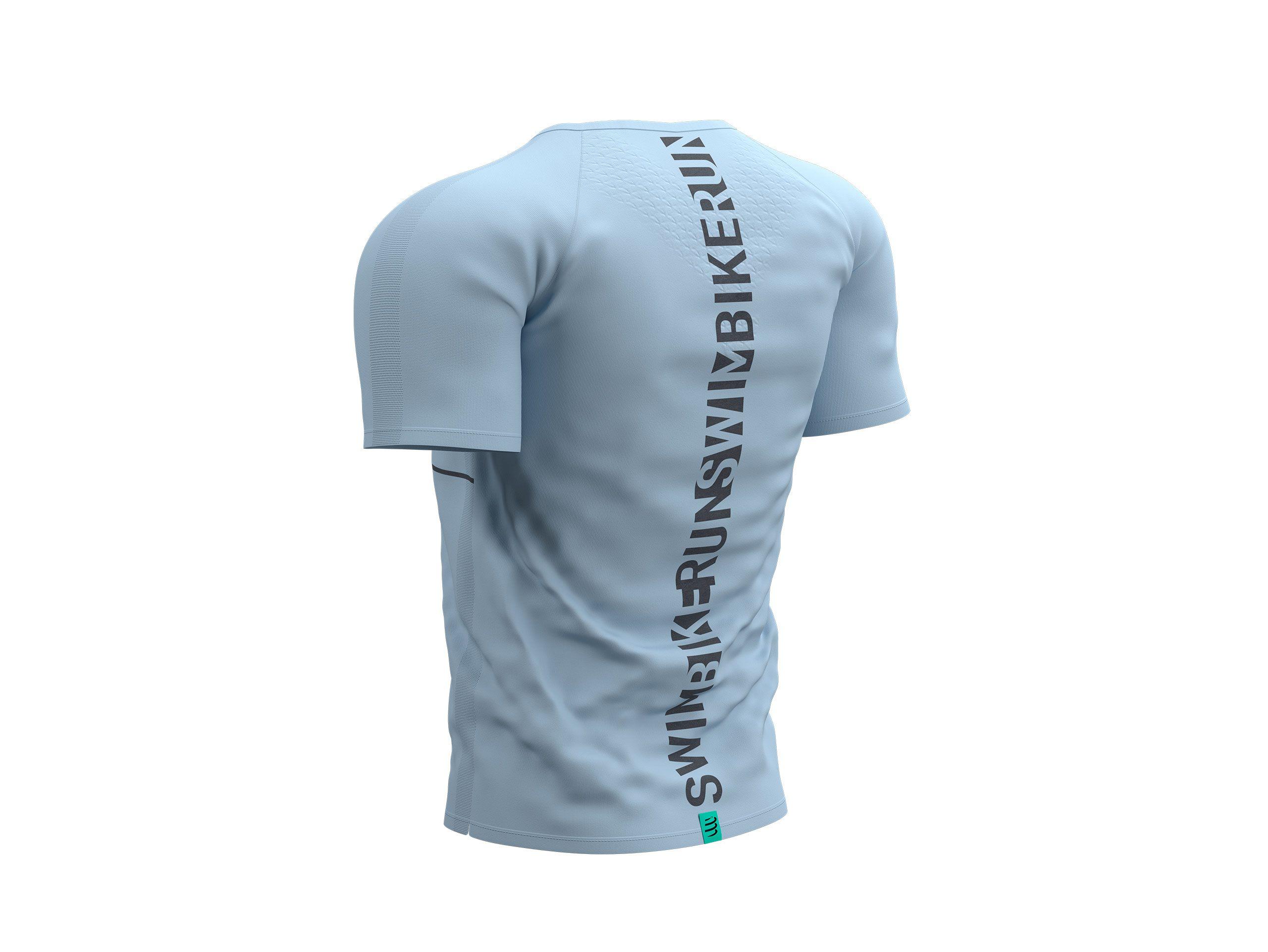 Training Tshirt SS - Born To SwimBikeRun 2021 LIGHT GREY/BLACK