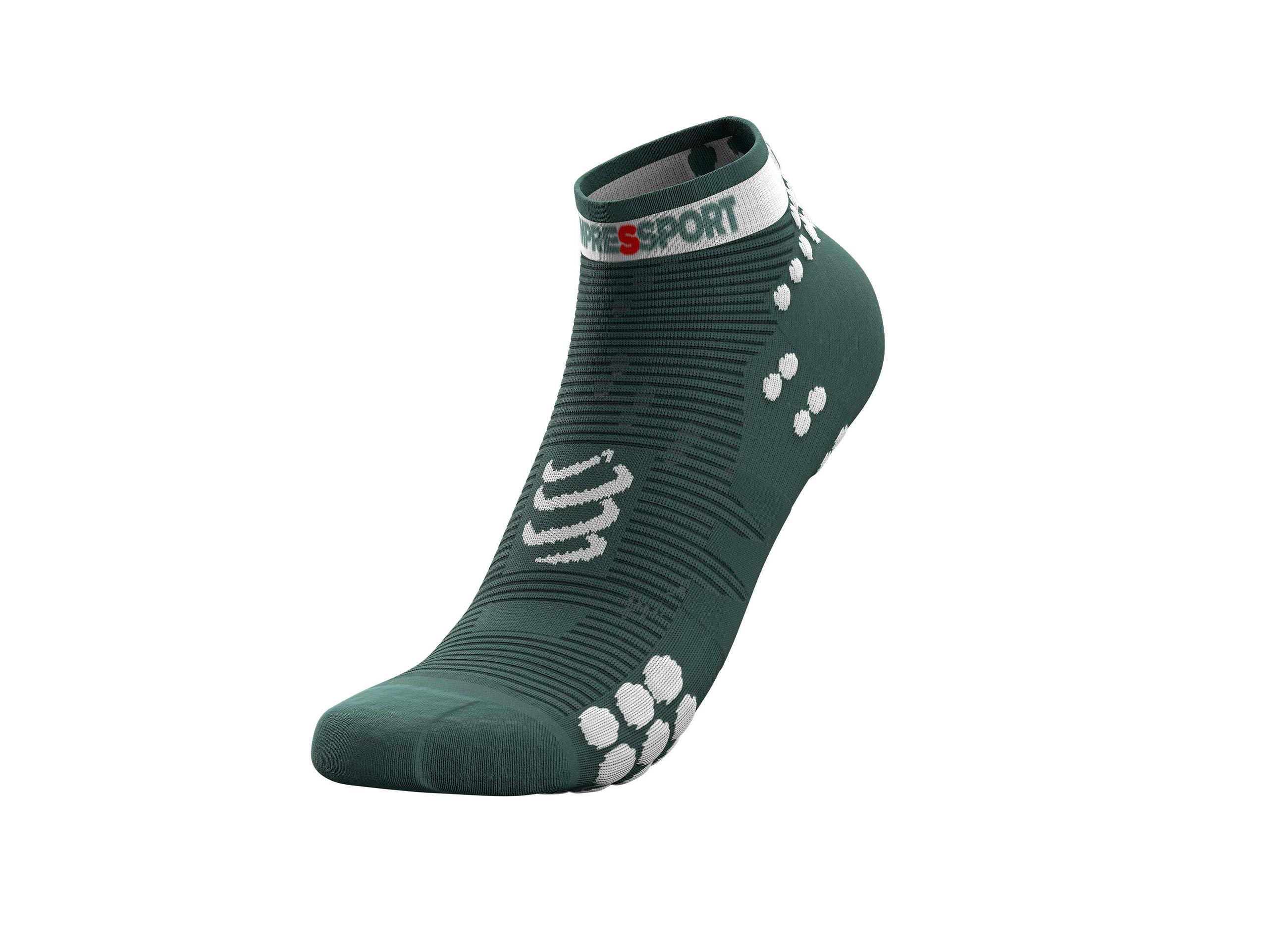 Pro Racing Socks v3.0 Run Low - Silver Pine / White