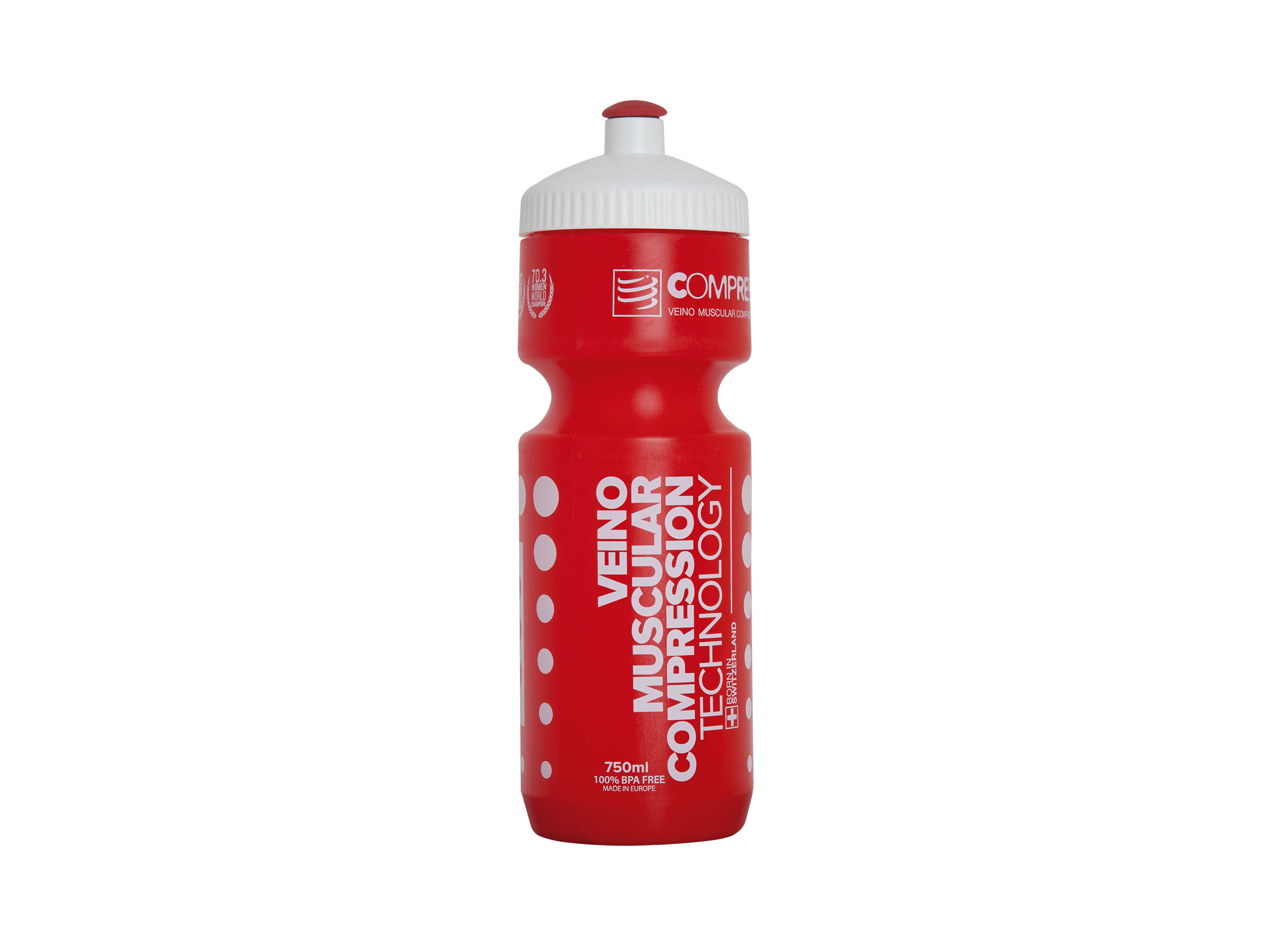 Cycling Bottle red/white