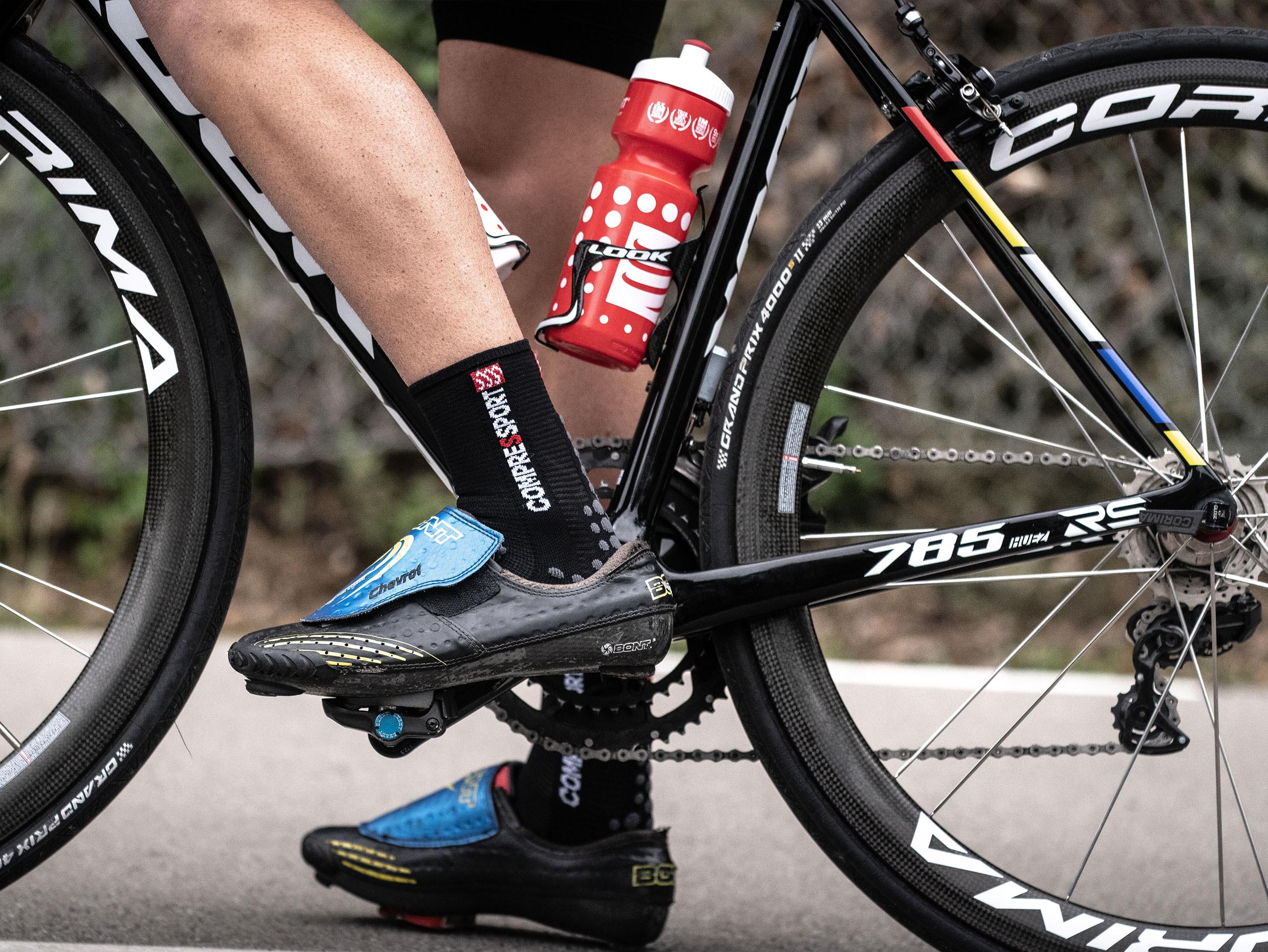 Fahrradflasche rot/weiß