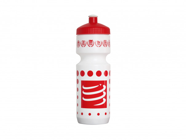 Botella de ciclismo blanco/rojo