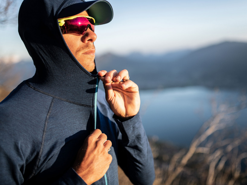 3D Thermo Seamless Hoodie Zip - Mont Blanc 2019 BLUE