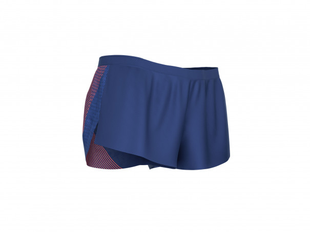 Racing Split Overshort M blu