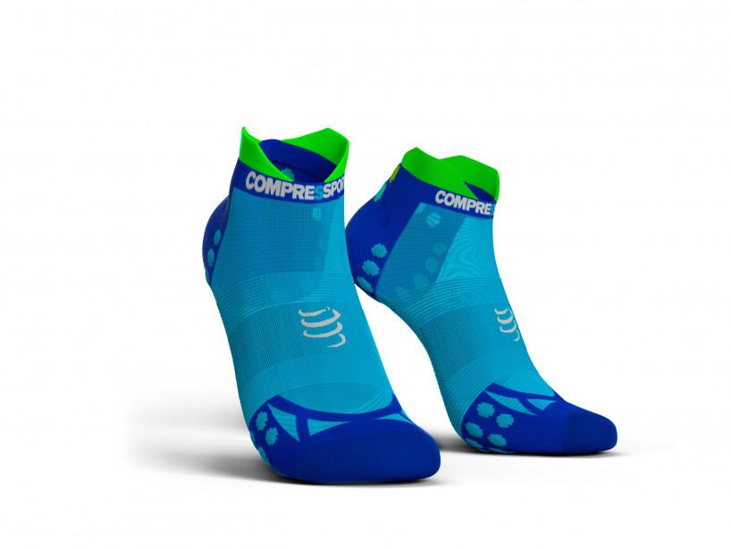 Calzini da gara professionali v3.0 Run Ultralight Low blu fluo