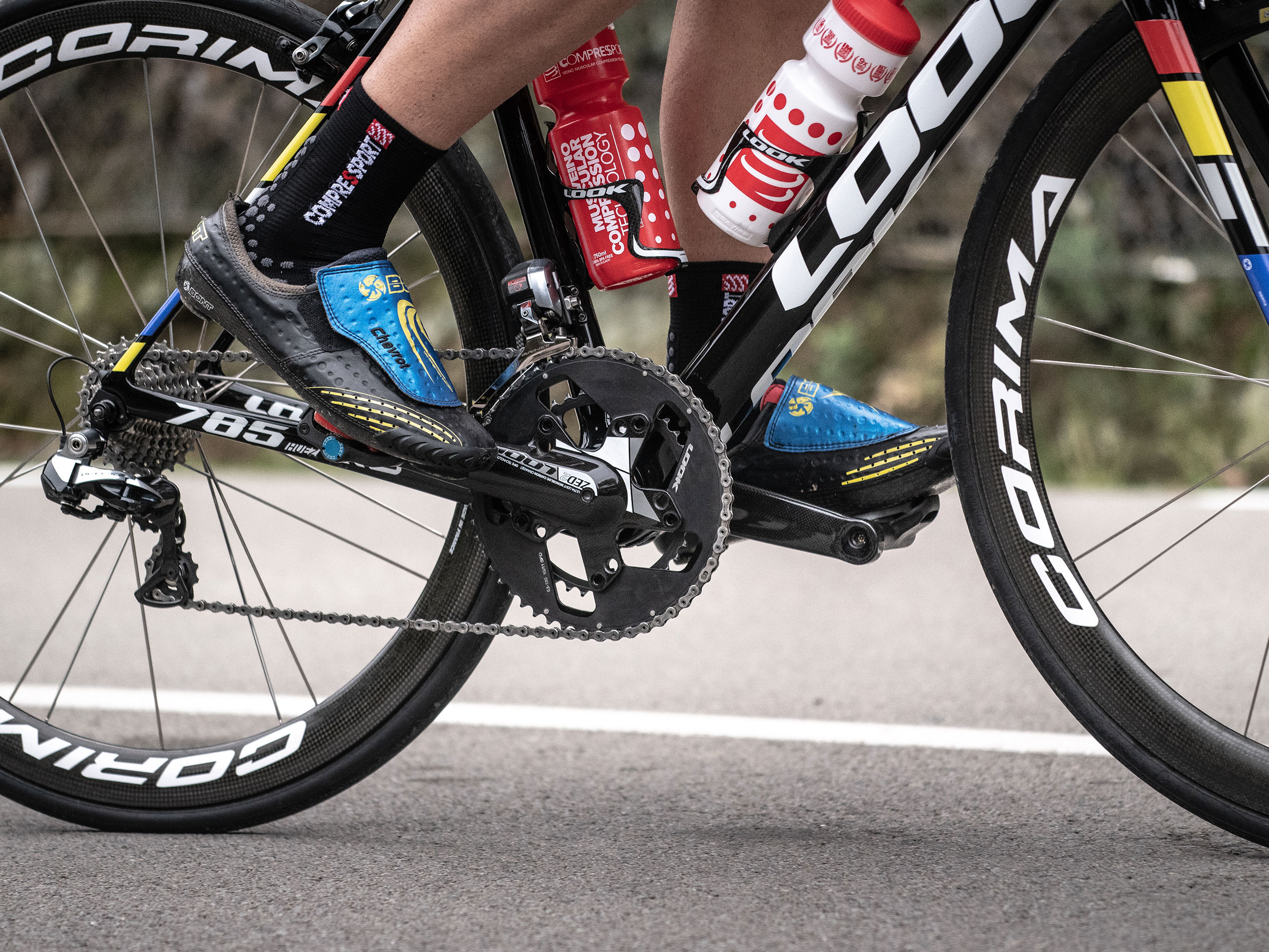 Calzini da gara professionali v3.0 Bike neri