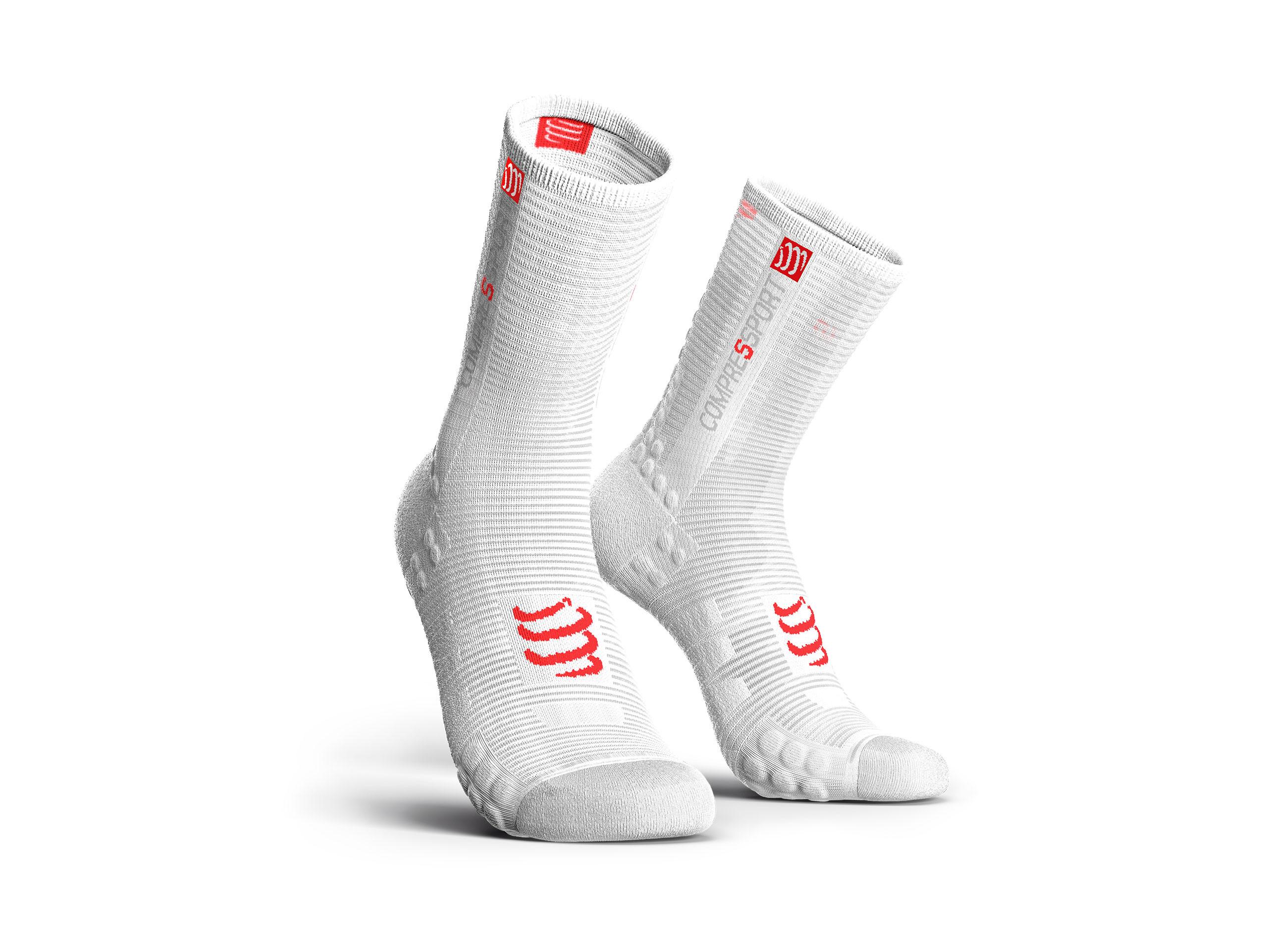 Calcetines deportivos pro v3.0 Bike blancos