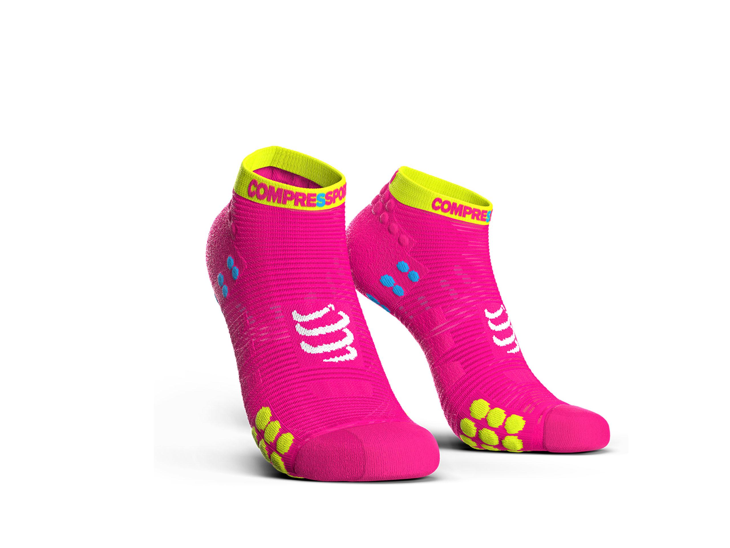 Calcetines deportivos pro v3.0 Run Low rosa flúor
