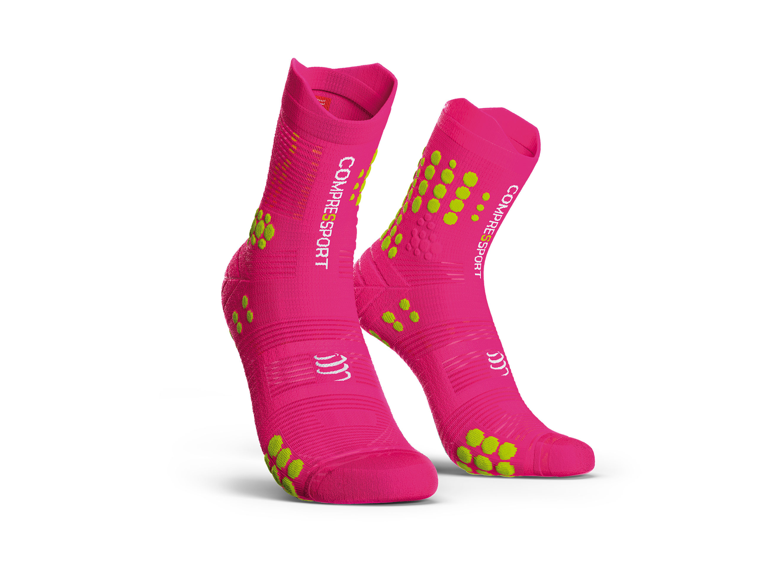 Calzini da gara professionali v3.0 rosa fluo