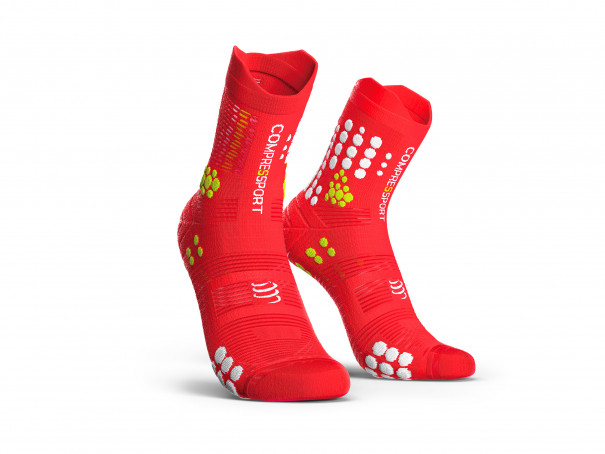 Calzini da gara professionali v3.0 rossi/bianchi