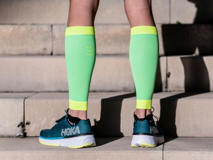 R2V2 calf sleeves fluo green