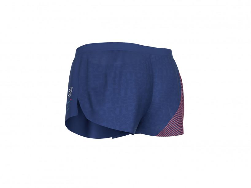 Pantalón corto deportivo H azul