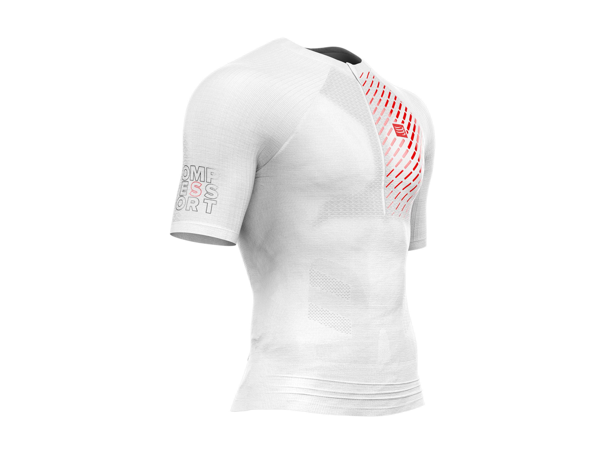 Camiseta MC postural de trail running blanca