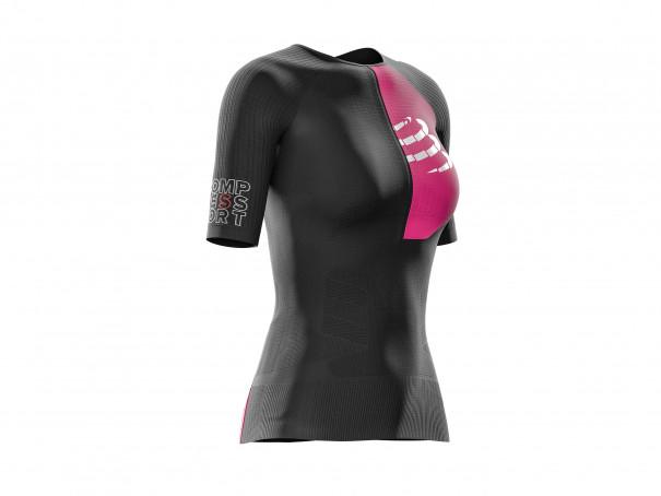 Camiseta Aero MC postural para triatlón M negra