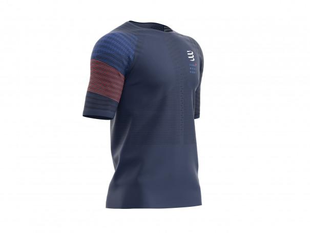 T-shirt SS da gara M blu