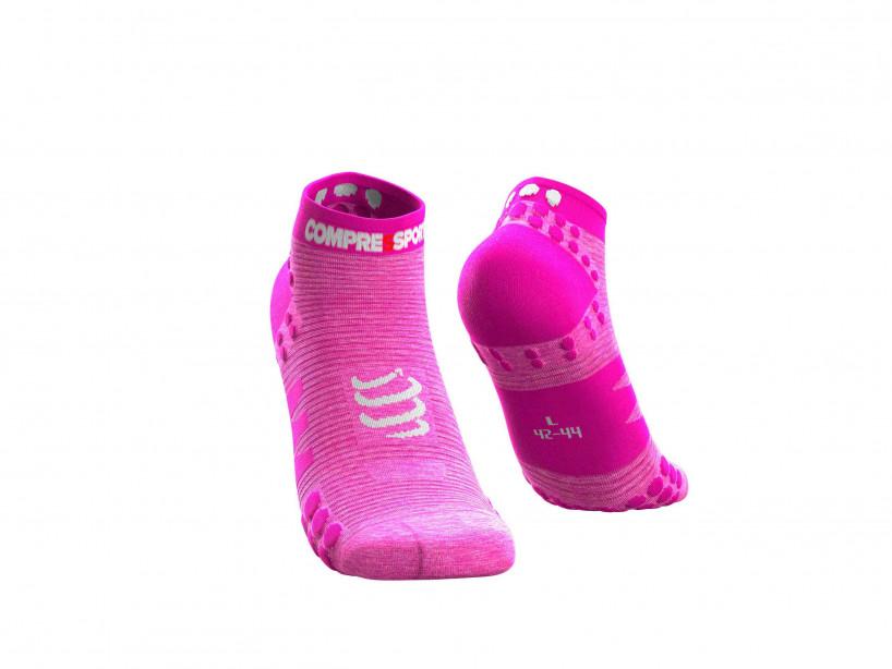 Pro Racing Socks v3.0 Run Low Pink-meliert