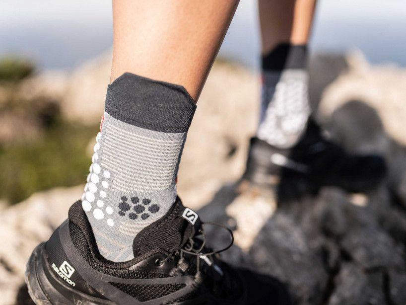 Pro Racing Socks v3.0 Trail grau-meliert