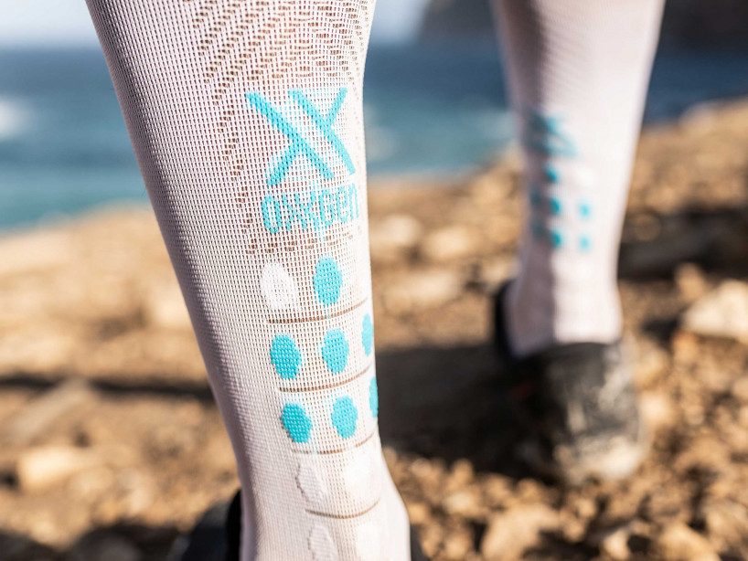 Full Socks Race Oxygen blanc