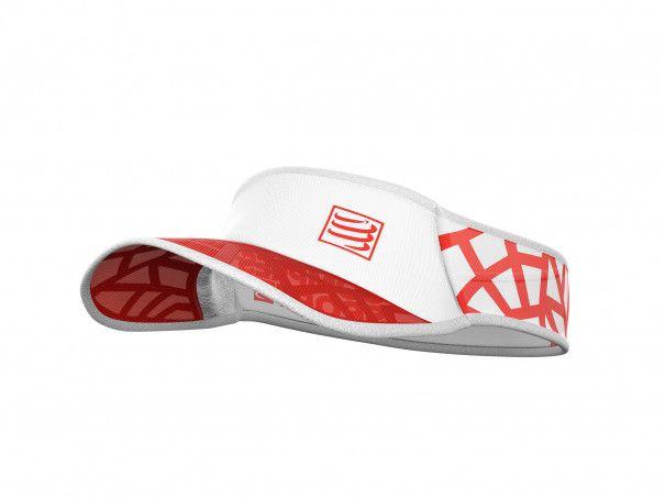 Visera Spiderweb Ultralight rojo/blanco