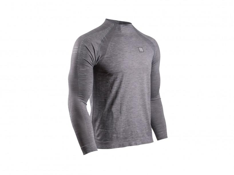 Training Tshirt LS grey melange