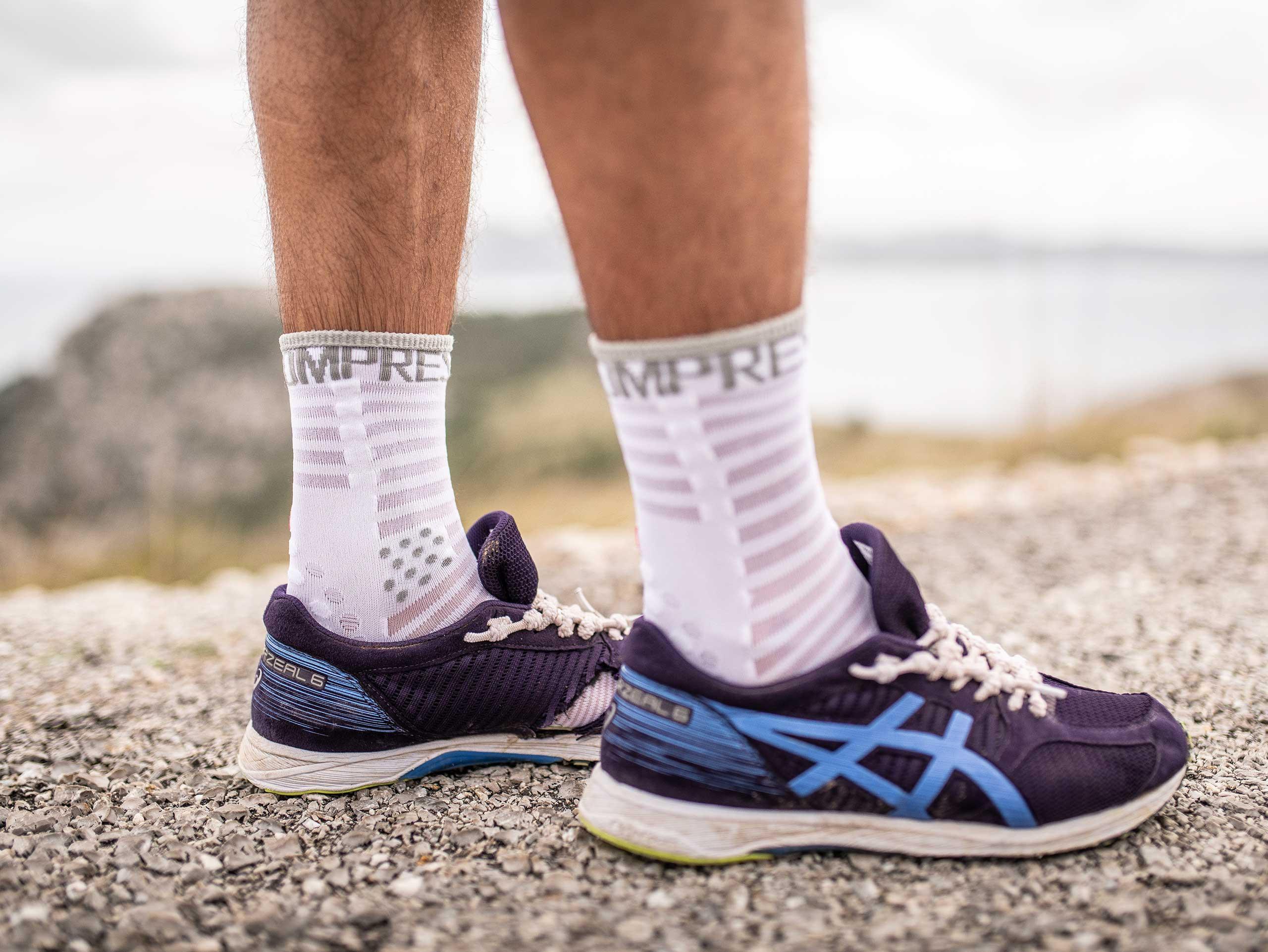 Pro Racing Socks v3.0 Ultralight Run High blanc