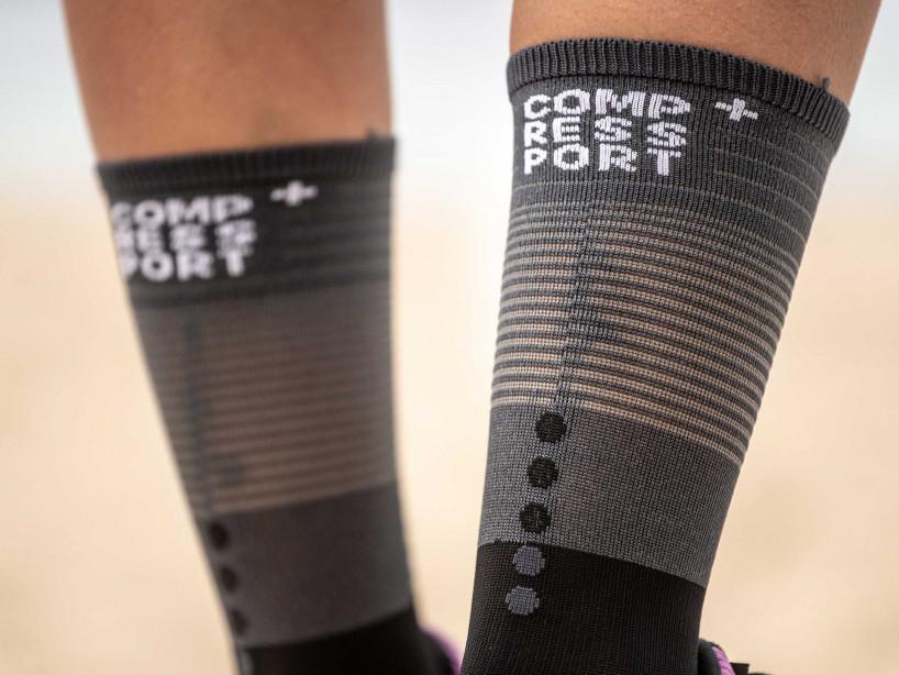 Calze di compressione media nere/grigie