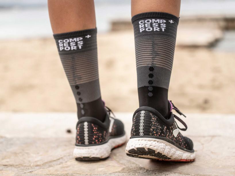 Mid Compression Socks schwarz/grau