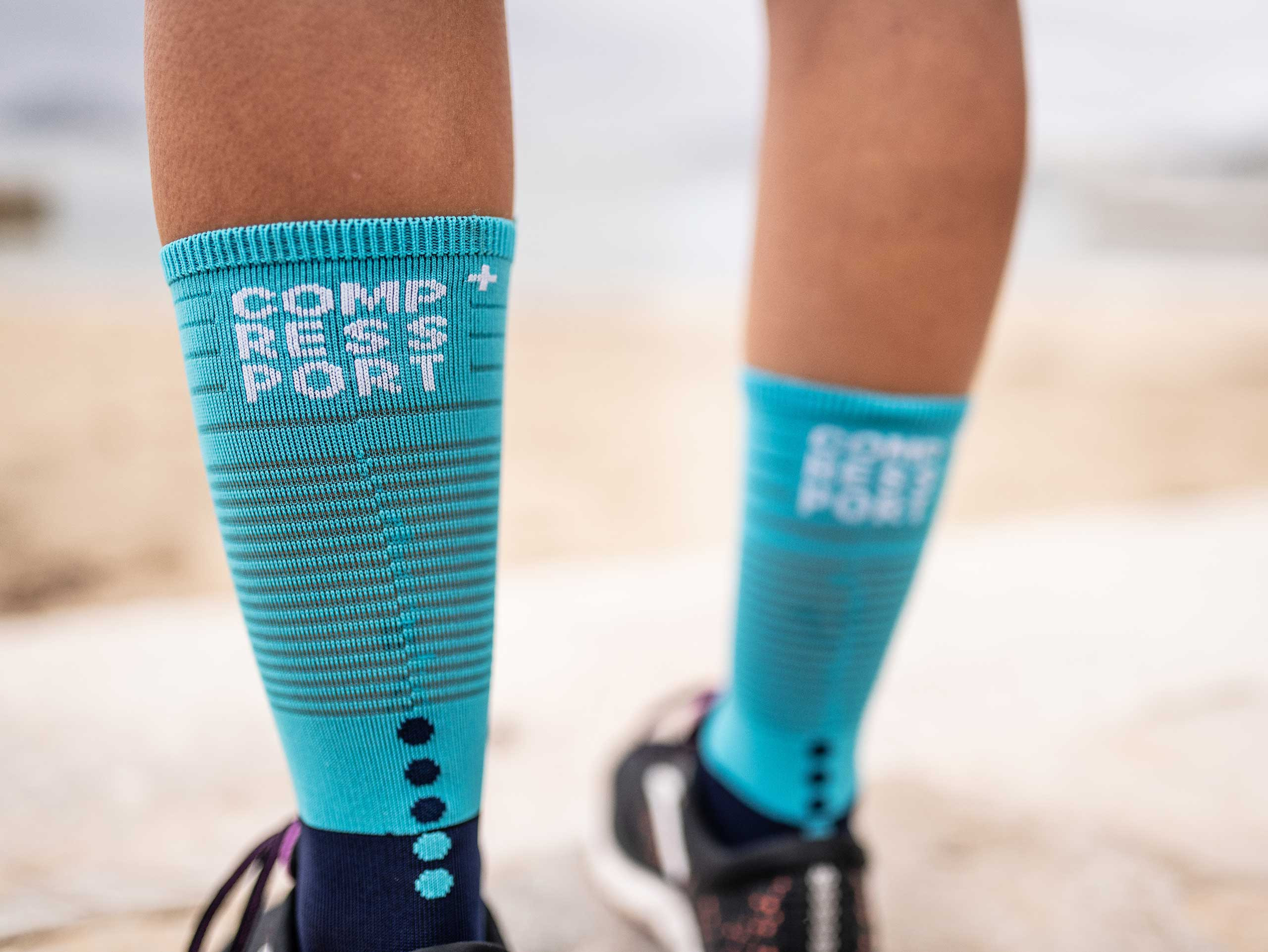Mid Compression Socks blue/ice blue