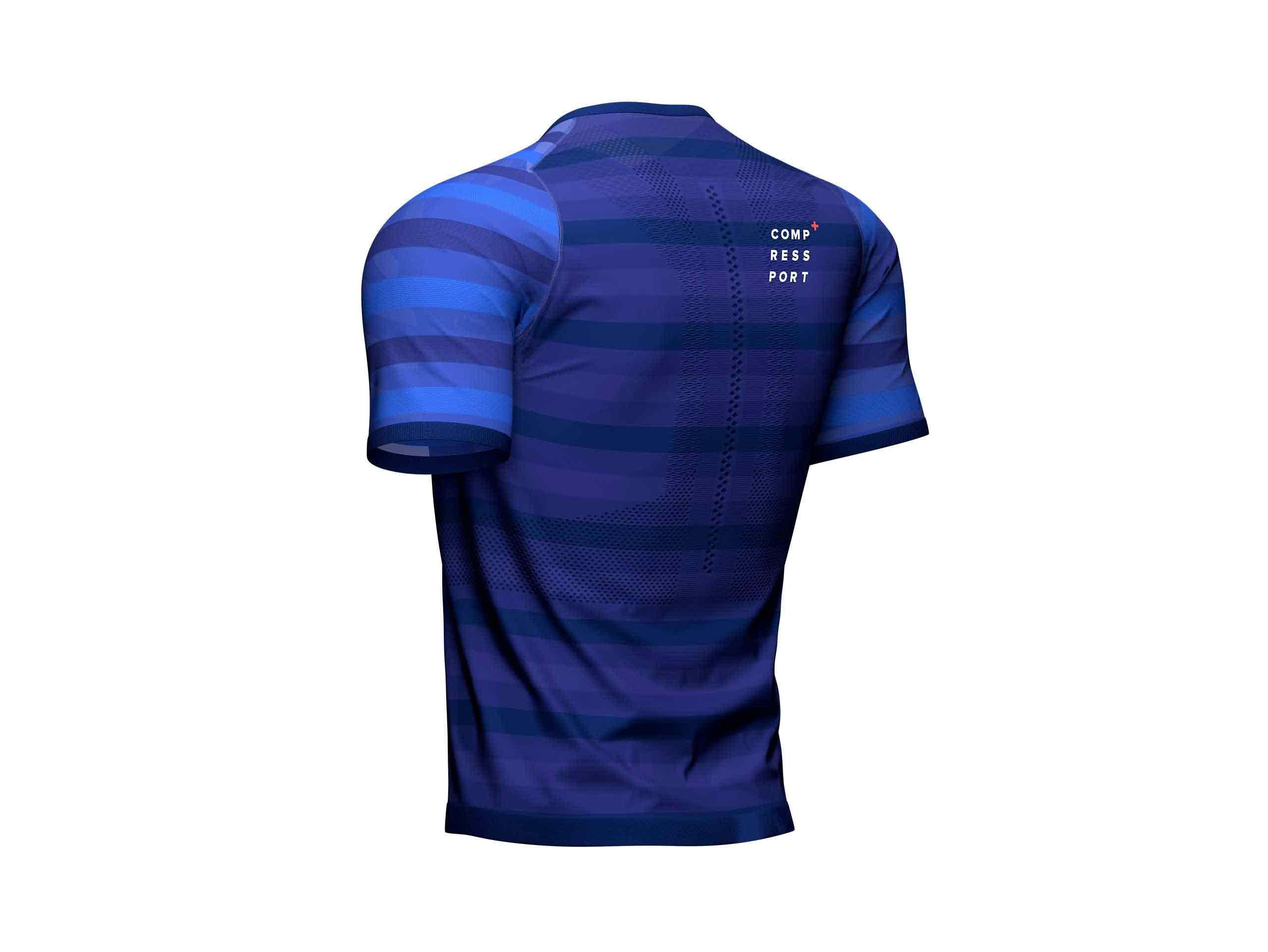 T-shirt SS da gara blu