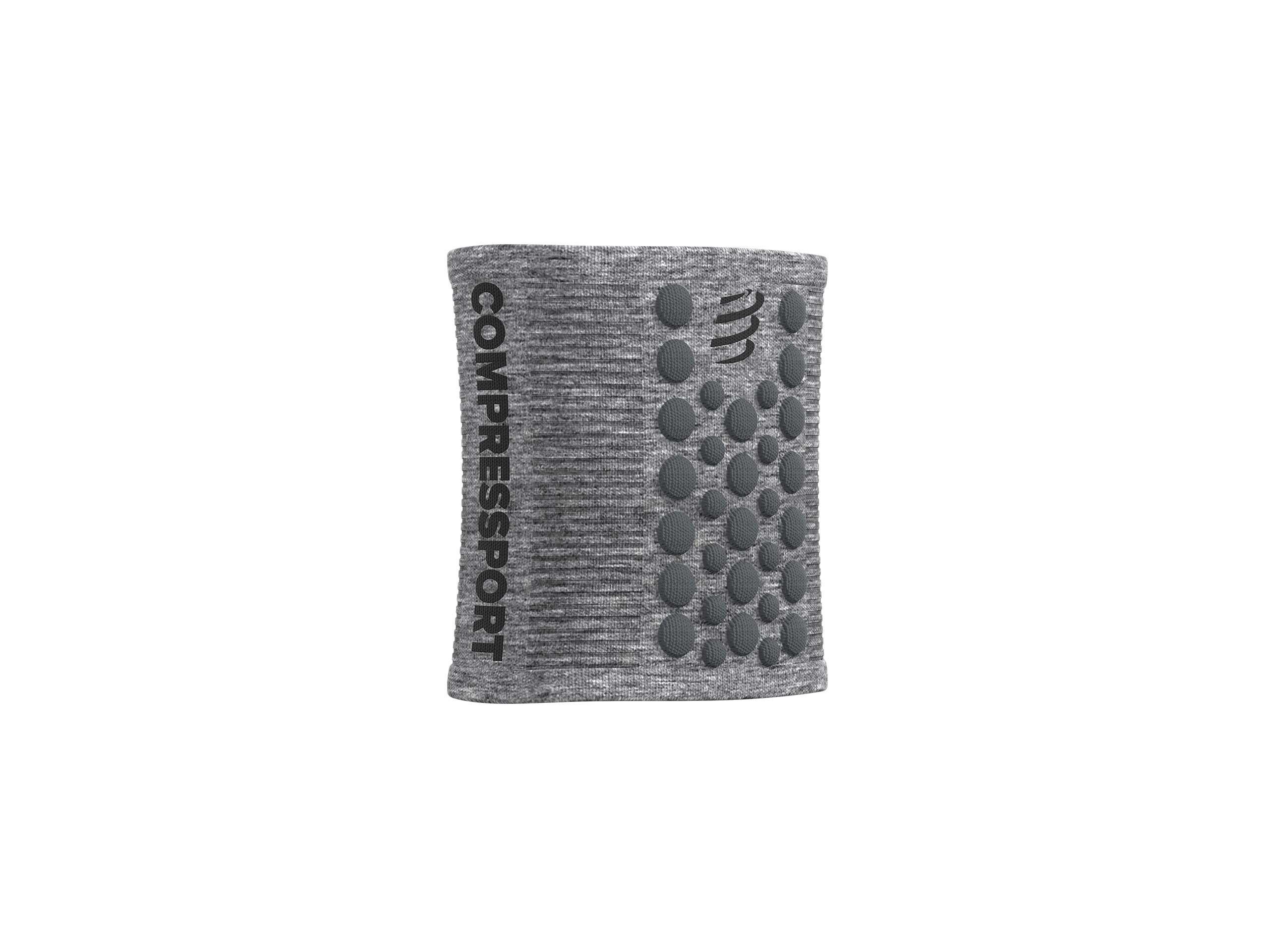Fasce per il sudore a punti 3D grigio melange